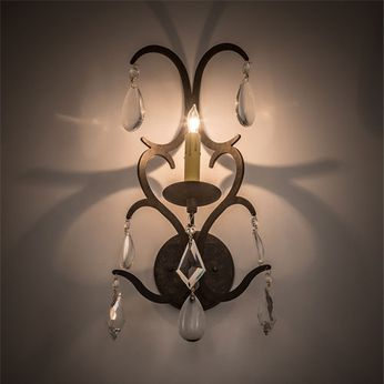 Meyda Tiffany 199203 Alicia Bronze / Crystal Light Sconce
