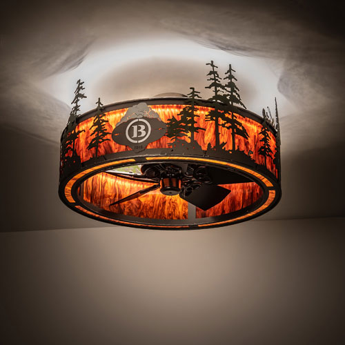 Meyda Tiffany 199564 Tall Pines Rustic Oil Rubbed Bronze Led Flush Mount Ceiling Light Fixture Mey 199564