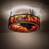 Meyda Tiffany 199564 Tall Pines Rustic Oil Rubbed Bronze LED Flush Mount Ceiling Light Fixture