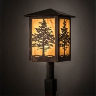 Meyda Tiffany 199846 Tamarack Country Vintage Copper Outdoor Post Lighting