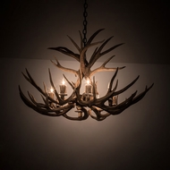 Meyda Tiffany 200431 Antlers Country Antique Copper 38 Chandelier Lamp