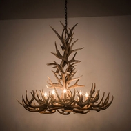 Meyda Tiffany 200436 Antlers Country Antique Copper 43 Chandelier Light