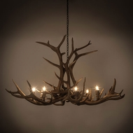 Meyda Tiffany 200452 Antlers Country Antique Copper 66 Chandelier Light