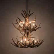 Meyda Tiffany 200460 Antlers Country Antique Copper 34 Chandelier Lamp