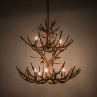 Meyda Tiffany 200463 Antlers Country Antique Copper 42 Ceiling Chandelier