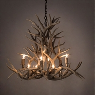 Meyda Tiffany 200465 Antlers Country Antique Copper 38 Chandelier Light