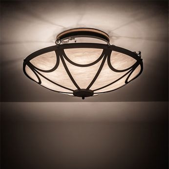 Meyda Tiffany 200476 Carousel Hand Wrought Iron Ceiling Light