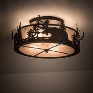 Meyda Tiffany 200517 Moose at Dusk Country Oil Rubbed Bronze Ceiling Light Fixture