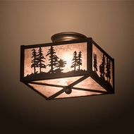 Meyda Tiffany 200526 Tall Pines Country Oil Rubbed Bronze Ceiling Lighting Fixture