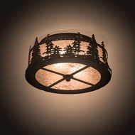 Meyda Tiffany 200527 Tall Pines Rustic Oil Rubbed Bronze Ceiling Light Fixture