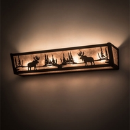 Meyda Tiffany 200615 Moose at Lake Country Oil Rubbed Bronze Bath Lighting Fixture