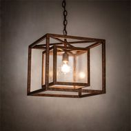 Meyda Tiffany 200628 Kitzi Contemporary Copper Pendant Light Fixture
