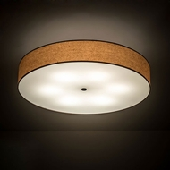 Meyda Tiffany 200931 Cilindro Mahogany Bronze LED Flush Mount Lighting