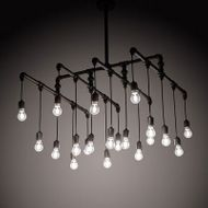 Meyda Tiffany 201071 PipeDream Modern Steel LED Multi Drop Ceiling Lighting