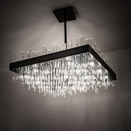 Meyda Tiffany 201572 Arendelle Contemporary Solar Black LED Hanging Chandelier