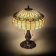Meyda Tiffany 201764 Fluted Tiffany Mahogany Bronze Table Lamp