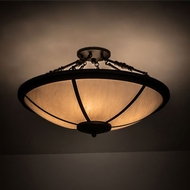 Meyda Tiffany 201781 Commerce Oil Rubbed Bronze Flush Mount Ceiling Light Fixture