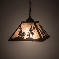 Meyda Tiffany 201984 Tall Pines Country Oil Rubbed Bronze Pendant Lighting