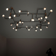 Meyda Tiffany 202059 PipeDream Contemporary LED Overhead Lighting Fixture