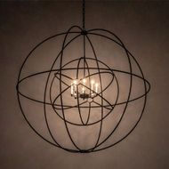 Meyda Tiffany 202102 Atom Enerjisi Modern Textured Black Pendant Light
