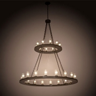 Meyda Tiffany 202972 Loxley Contemporary Timeless Bronze Fluorescent Chandelier Lamp