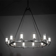 Meyda Tiffany 203297 Loxley Contemporary Silver LED Chandelier Lighting