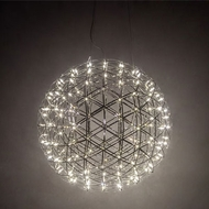 Meyda Tiffany 203333 Geosphere Contemporary Stainless Steel LED Hanging Pendant Light