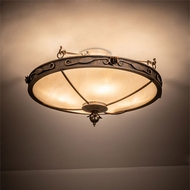 Meyda Tiffany 204049 Arabesque French Bronzed Ceiling Lighting