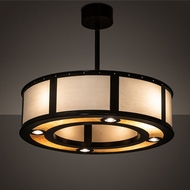 Meyda Tiffany 205555 Maplewood Timeless Bronze Drum Hanging Light Fixture
