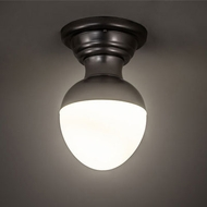 Meyda Tiffany 205628 Huevo Contemporary Nickel Fluorescent Ceiling Light