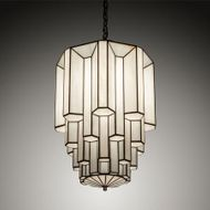 Meyda Tiffany 205660 Paramount Modern Nickel LED Ceiling Light Pendant