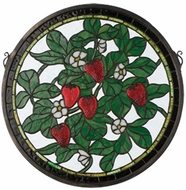 Meyda Tiffany 20728 Strawberry Tiffany Stained Glass Window