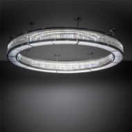 Meyda Tiffany 210305 Beckam Chrome / Crystal LED Ceiling Light