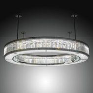 Meyda Tiffany 210306 Beckam Chrome / Crystal LED Ceiling Light Fixture
