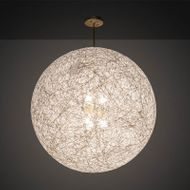 Meyda Tiffany 210451 Yarn Ball Modern Natural Brass Drop Ceiling Light Fixture