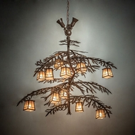 Meyda Tiffany 210931 Pine Branch Cafe-Noir Halogen Chandelier Lamp