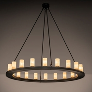 Meyda Tiffany 211438 Loxley Contemporary Oil Rubbed Bronze Chandelier Light