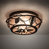 Meyda Tiffany 211891 Whispering Pines Oil Rubbed Bronze LED Flush Lighting