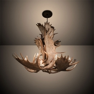 Meyda Tiffany 212269 Antlers Rustic Antique Copper Ceiling Chandelier