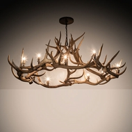 Meyda Tiffany 212271 Antlers Country Antique Copper Hanging Chandelier