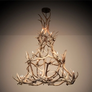 Meyda Tiffany 212273 Antlers Rustic Antique Copper Chandelier Light