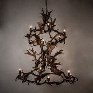 Meyda Tiffany 212274 Antlers Country Chandelier Lighting