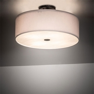 Meyda Tiffany 213074 Cilindro Smoke Flush Ceiling Light Fixture