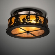 Meyda Tiffany 213426 Tall Pines Flush Mount Lighting Fixture