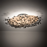 Meyda Tiffany 213708 Espe Antique Copper / Burnished Copper LED Flush Mount Ceiling Light Fixture