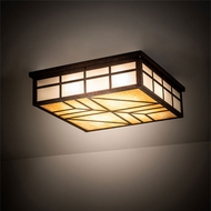 Meyda Tiffany 213730 Santa Fe Craftsman Rust Home Ceiling Lighting