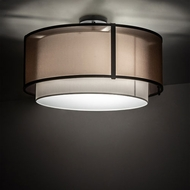 Meyda Tiffany 213919 Cilindro Contemporary Flat Black LED Flush Mount Ceiling Light Fixture