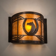 Meyda Tiffany 213985 Horseshoe Antique Copper / Burnished Wall Light Fixture