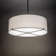 Meyda Tiffany 214020 Cilindro Modern Nickel LED Drum Ceiling Light Pendant