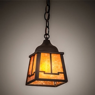 Meyda Tiffany 214304 Valley View Mission Oil Rubbed Bronze Halogen Mini Ceiling Light Pendant